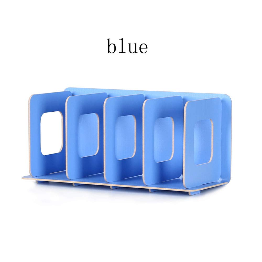 WangZhiGang CD Rack Wooden Storage Creative Display Stand DVD disc Movie Rack disc Storage Cabinet Box Simple and Practical (Color : Blue) by WangZhiGang