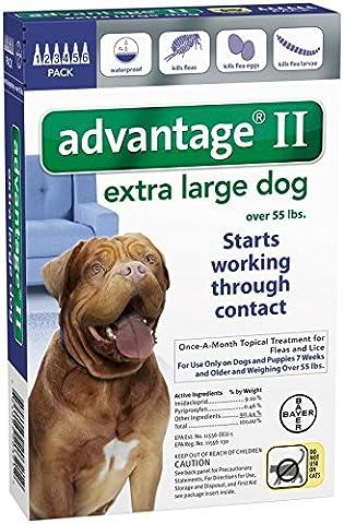 Advantage II Extra Large Dog 6-Pack - Advantix Flea Treatment