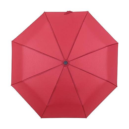 JUNDY Paraguas Compacto y Resistente al Viento, Paraguas Plegable ...