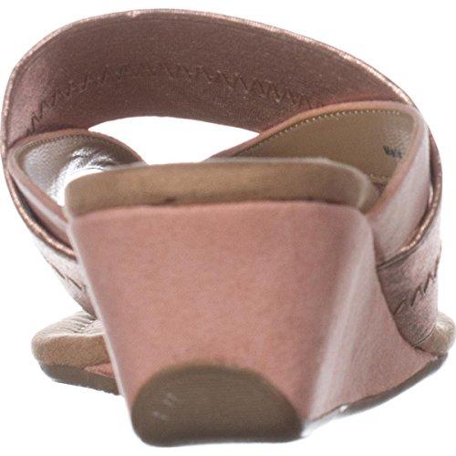 Alfani A35 Viiva Slide Wedge Sandals - Rose Gold oqjZA08