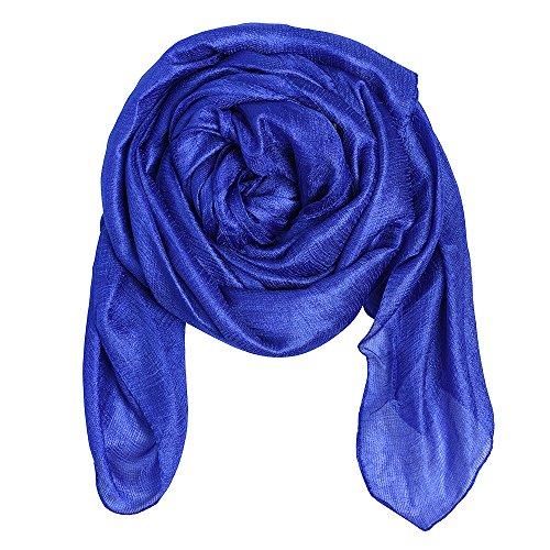 Womens Large Soft Silky Bridal Evening Wedding Party Wrap Scarf Shawl Royal ()