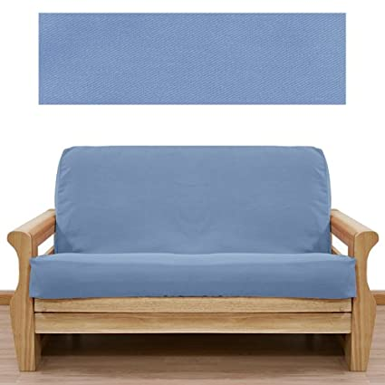 Amazon Solid Light Blue Futon Cover Full 40pc Pillow Set 40 Awesome Futon Cover Set With Pillows