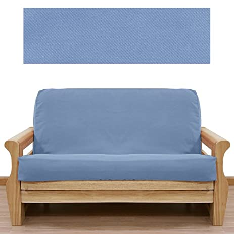 solid light blue futon cover full 401 amazon    solid light blue futon cover full 401  home  u0026 kitchen  rh   amazon