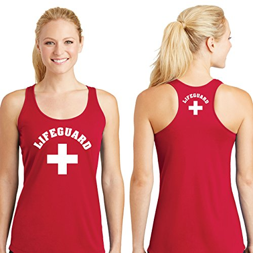 LIFEGUARD Tank Top Fast Drying (Large, Red) (Womens Fast Life)