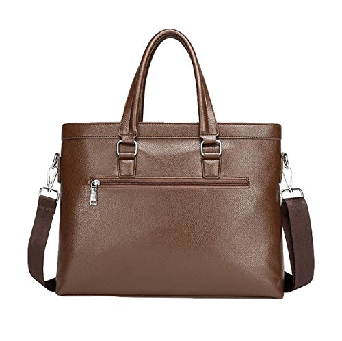 Hombre De Negocios Pack Bolso Bolsa De Hombro Bolsa De Mensajero Bolsa Master Simple Ambiente De Moda Brown3