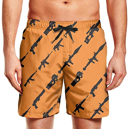 Rogue Status Gun - Rkouquhuaqi Mens Swim Trunks Rogue Status Gun Show Summer Cool Quick Dry Board Shorts with Mesh Lining