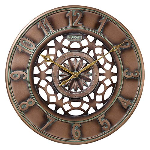 - Bulova C4853 Gardner Outdoor Wall Clock, 16