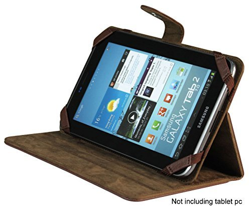 """Samsung Galaxy Tab 2 7 inch Brown Leather Case /Stand , Most of 7"""" Tablet PC"""