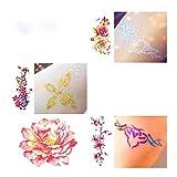 Dreamyth Body Painting Kit, Glitter Tattoo Powder Temporary Tattoo Body Painting Kit Brushes Glue Stencils