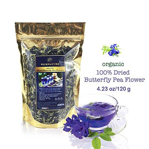 Premium Thai Herb Organic Dried Butterfly Pea Flowers