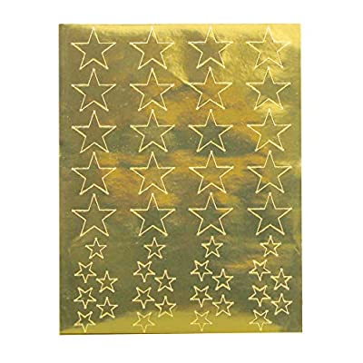 Hygloss Products, Inc 20 Sheets, 880 Gold Foil Star Stickers: Arts, Crafts & Sewing
