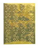 Hygloss Products, Inc 20 Sheets, 880 Gold Foil Star Stickers