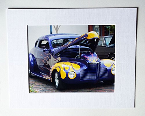 Street Rod with Flames 8x10 Collectible Photo with 11x14 Mat