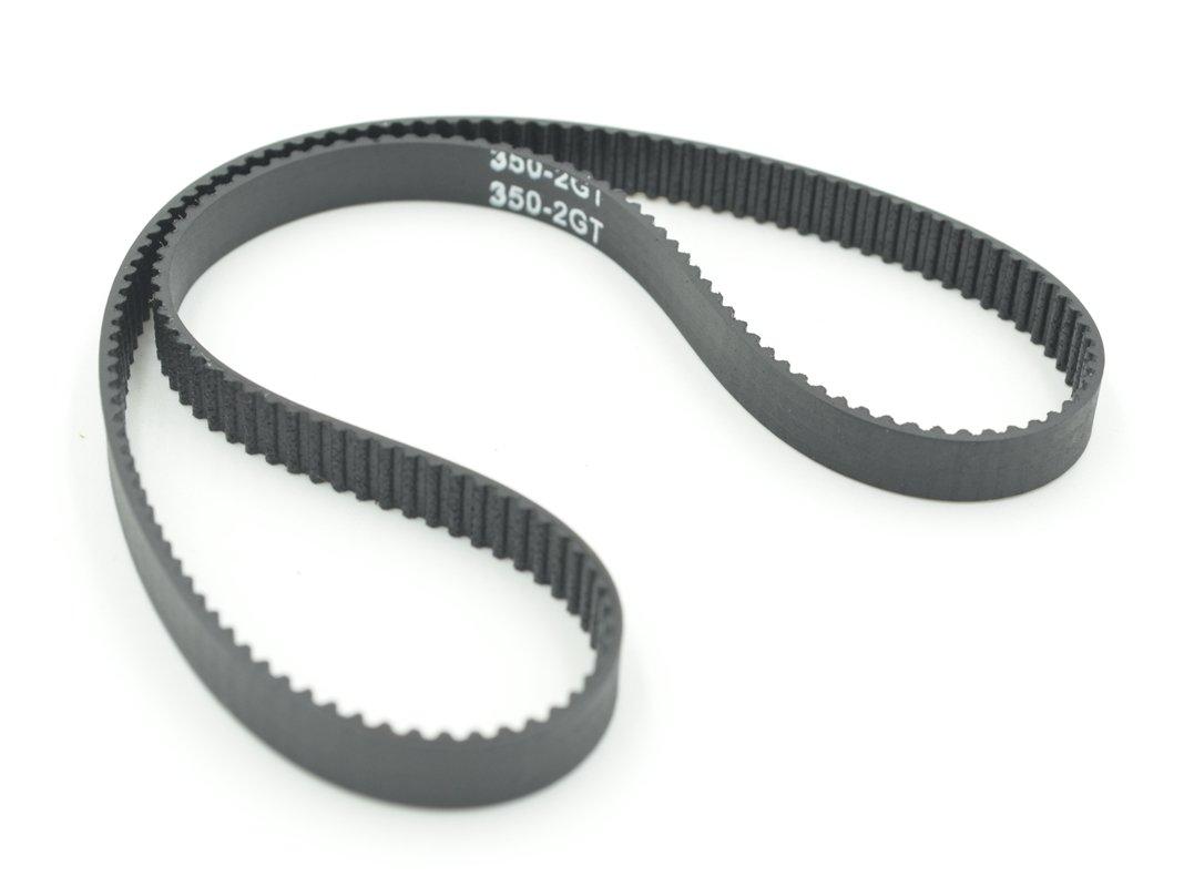 Powge Gt2 Timing Belt Rubber L350mm W6mm 175 Teeth In Closed Loop Mini Pitch Belts Color Black Pack Of 10pcs Industrial Scientific
