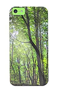 [azgfvl-6024-versvkc] - New Trees Nature Plant Green Forrest Wood Woods Tree Wild Leaves Yellow Colors Protective Iphone 5c Classic Hardshell Case