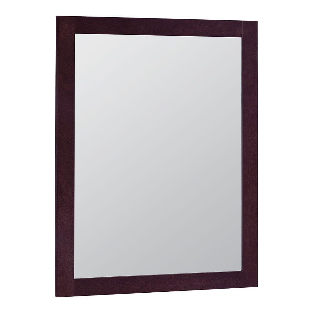 Glacier Bay Modular 24 in. x 31 in. Framed Vanity Mirror in Java