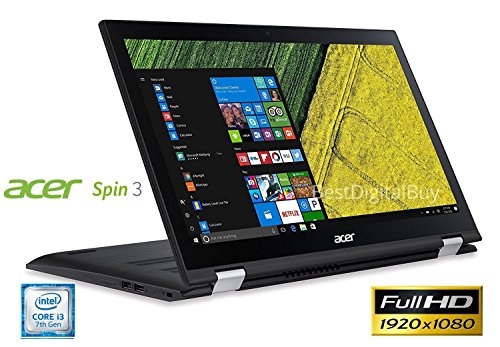 Acer Spin 3 SP315-51 Touch 2-1 Laptop 7th Gen Intel Core i3 up to 2.4GHz 6GB 1TB 15.6″ Full HD LED Cam HDMI (Certified Refurbished)