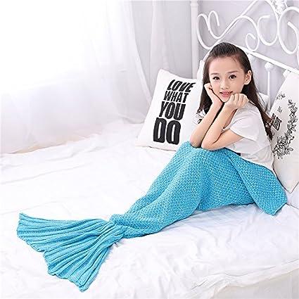 Regalo de cumpleaños para todas las temporadas Manta saco de dormir sofá mantas niños tejer mantas