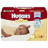 Huggies Little Snugglers Diapers, Size 1, 216 Count by Huggies