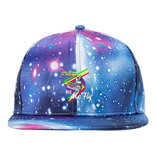 ETJIJCKDI The Future is Now Purple Galaxy Snapback Hat Unisex Trucker Hat Hip Hop Plaid Flat Adjustable Baseball Hat]()