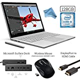 Microsoft Surface Book (128GB SSD, 8GB RAM, Intel 6th Gen Intel i5) + 2.4G Wireless Portable Mobile Optical Mouse + Microsoft Surface Dock + DisplayPort to HDMI Cable + DigitalAndMore Cloth