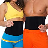 curves sweat belt - MakExpress Waist Trimmer Ab Belt Tummy Tuck Belly Burner Sauna Fit Trim Firm Curve Contour Weight Loss Abdominal Tone Muscle Toning Slim Easy Strong Exercise for Women & Men Home Gym by