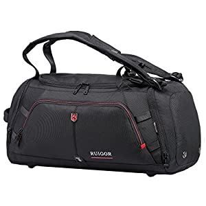 Swiss Ruigor 6412 Water Resistant Carry On Travel Duffel Bag and Gym Sports Bag with Shoes Compartment - 9.5 Gallons - 35 Liters