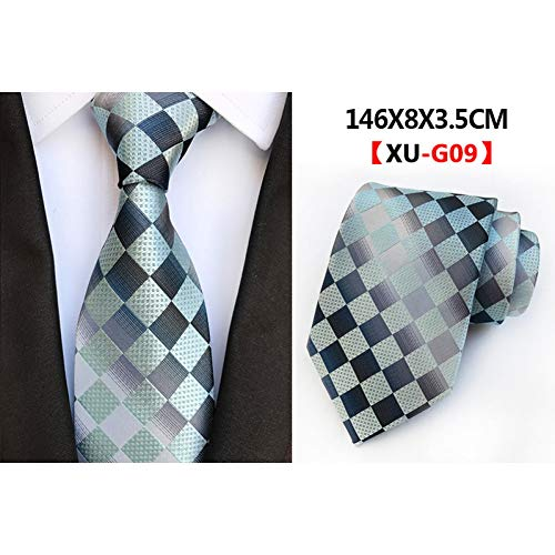 WOXHY New Classic Striped Paisley Geometric Checked Plaid Jacquard Woven Silk Tuxedos Polyester Men's Necktie Groom Gentleman Ties