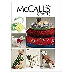 McCall Patterns 0389543 McCall's Cama para Perro en 3, Correa, Funda, arnés Chaleco y Chamarra patrón M6455 tamaño OSZ...