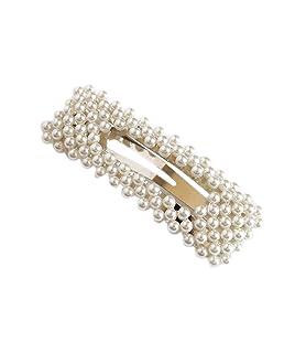 Beaums La novia de la perla de las horquillas de las mujeres de chicas Barrettes hechos a mano pelo pinzas de pelo dama de Accesorios