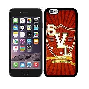 Funda carcasa TPU Gel para Apple iPhone 6S Plus diseño Virginia State League borde negro