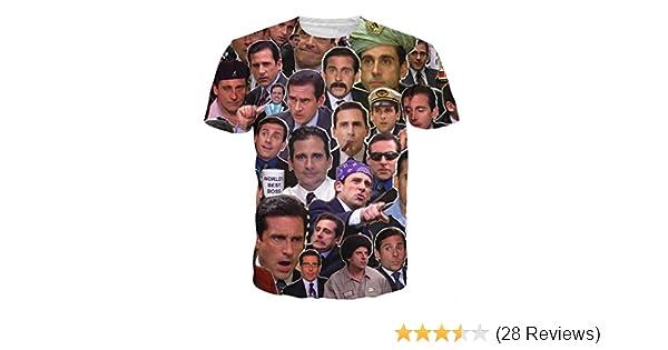 Amazoncom T Shirt 3d Print Many Faces Of Michael Scott Paparazzi