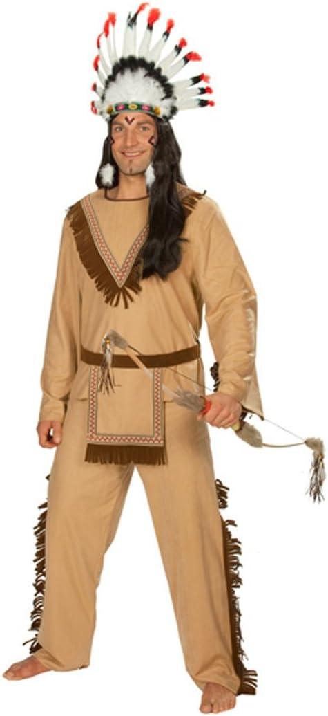 Disfraz de indio para hombre traje indio Apache Jefe Sioux jefe ...