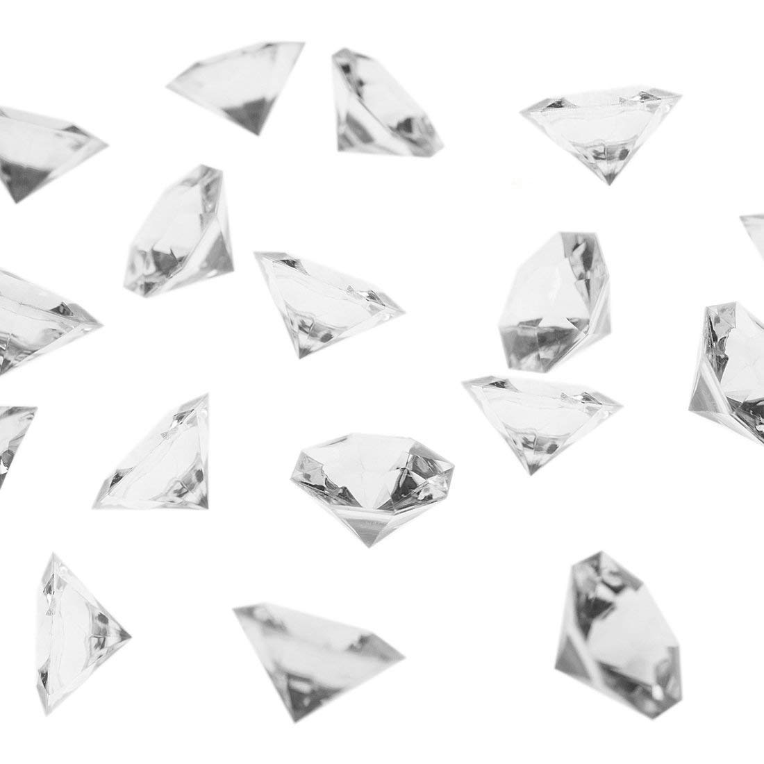 R.FLOWER 36 Carat Clear Acrylic Diamonds, Big Diamonds for Table Scatters, Vase Fillers, Event, Wedding, Party, Birthday Decoration Pirate Treasure, Pack of 40