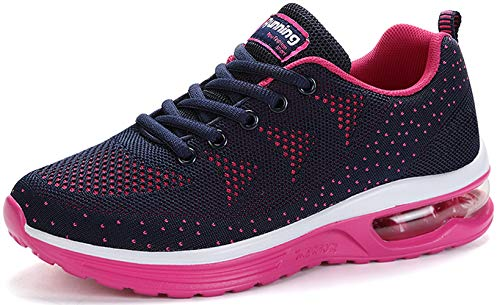 TSIODFO Women Sport Trail Running Shoes 2019 Summer Cushion Breathable Comfort Athletic Walking Shoes Ladies Youth Girls Tennis Shoes Gym Workout Fashion Sneakers Rosered Size 9 (A35-Rosered-41)