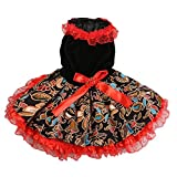 Pet Dog Red Lace Princess Tutu Dress Bow Bubble Skirt Puppy Costume Only for Small Dogs