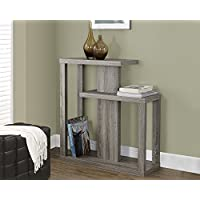Dark Taupe Reclaimed-Look 32L Hall Console Accent Table