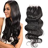 Greatremy 4″x4″ 3 Part Lace Closure Body Wave Human Hair 130% Density Natural Hair Color 10inch Review