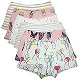 Cczmfeas Girls Boyshort Hipster Panties Cotton Kids Underwear Set (A-6 Pack, 6-8 Years)