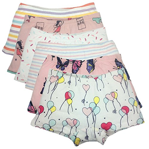 Cczmfeas Girls Boyshort Hipster Panties Cotton Kids Underwear Set (A-6 Pack, 6-8 Years) by Cczmfeas (Image #8)