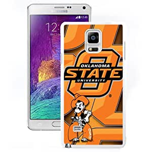 Customized Galaxy Note 4 Case with NCAA Big 12 Conference Big12 Football Oklahoma State Cowboys 8 Protective Cell Phone Hardshell Cover Case for Samsung Galaxy Note 4 N910 N910S N910C White