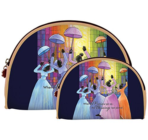 African American Expressions - Praises Go Up/ Ladies with Umbrellas Cosmetic Bags (Set of two) COS-12