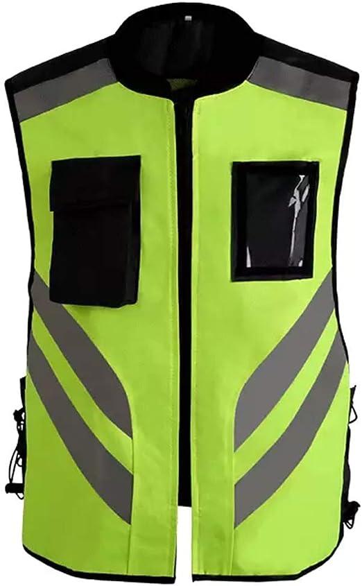 YUMUYMEY Chaleco Reflectante Chaleco de Seguridad Cinturón Fluorescente/Trabajo de Alta Visibilidad/Broma Bicicleta de Motocicleta Guardia de tráfico Guía de Seguridad Nocturna Chaleco de segurida: Amazon.es: Hogar