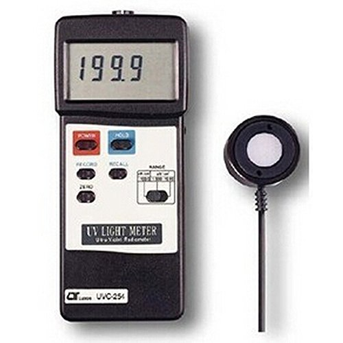UVC254 UVC Light Meter 0-199.9uW/cm²,0-1.999mW/cm²,0-19.99mW/cm²,254nm Wave Length UVC 254 UVC-2541 by YUNQI