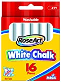 RoseArt White Chalk 16-Pieces Packaging May Vary