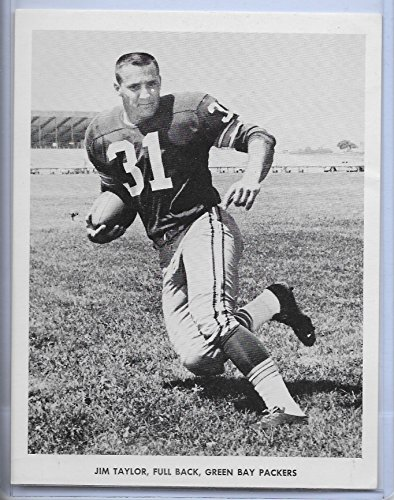 1960's Era Green Bay Packers Jim Taylor Team Issued Black & White Photo VG ()