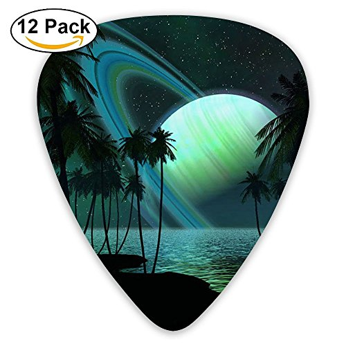 (12-pack Fashion Classic Electric Guitar Picks Plectrums Fantasy Scenery Backgrounds Instrument Standard Bass)