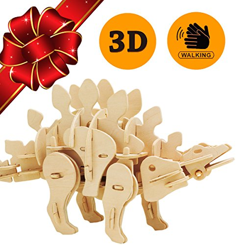 3D PUZZLES THAT COME TO LIFE WITH SOUND AND MOTION - Top Gift for Kids - Building Craft Puzzle Dinosaur Toys - Children 5 6 7 8 9 10 11 12 13 14 15 Year Olds Up - Best Educational Gifts for Boys Girls