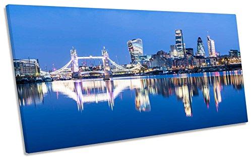 Canvas Geeks - City London Famous Landmarks - 120cm wide x 60cm high Box