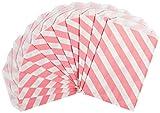 Party Partners Design 12 Count Paper Favor Bags, Pink Stripe